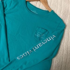Vineyard Vines | Turquoise Long Sleeve Top Small